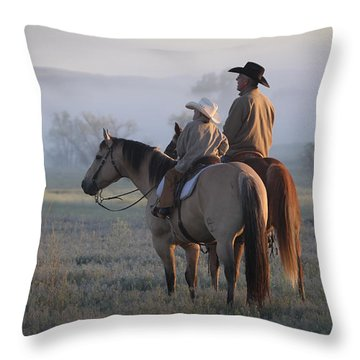 Wyoming Ranch Throw Pillow