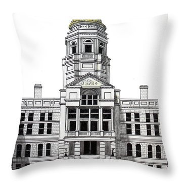 Wyoming State Capitol Throw Pillow by Frederic Kohli