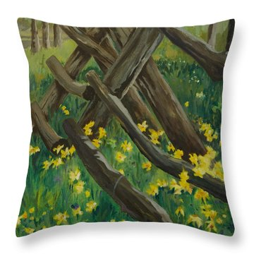Wyoming Summer Throw Pillow