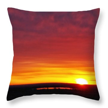 Wyoming Sunrise Throw Pillow