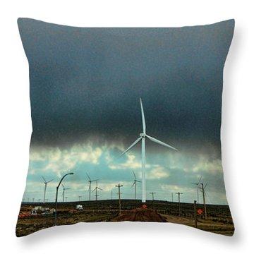 Wyoming Wind Farm Throw Pillow
