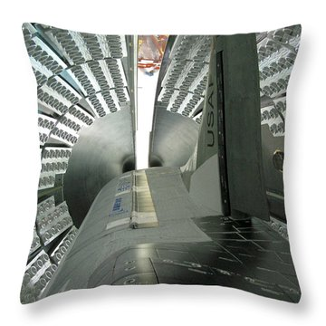 Throw Pillow featuring the photograph X-37b Orbital Test Vehicle by Science Source