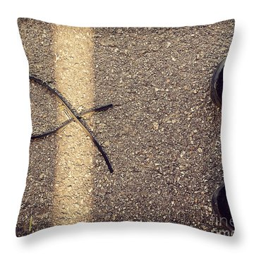 Throw Pillow featuring the photograph X On The Line by Meghan at FireBonnet Art