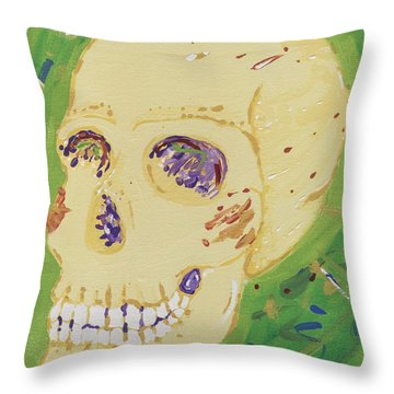 X-ray Jones Throw Pillow