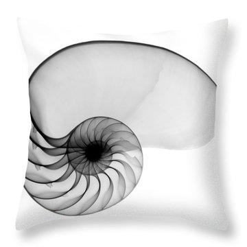 X-ray Of Nautilus Throw Pillow