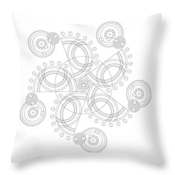X To The Sixth Power Throw Pillow