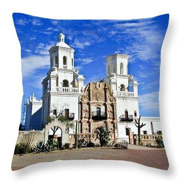 Xavier Tucson Arizona Throw Pillow by Douglas Barnett