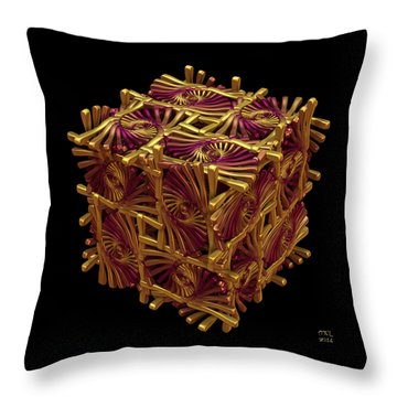 Throw Pillow featuring the digital art Xd Box by Manny Lorenzo