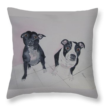 Are You Looking At Me Throw Pillow by Elvira Ingram