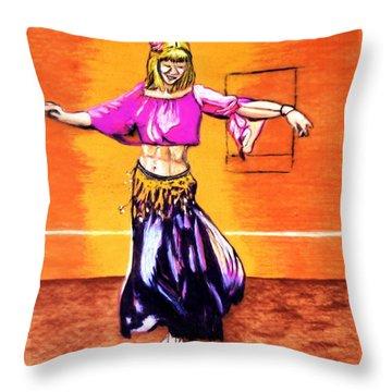 Xenia Dance 2 Throw Pillow by Ayasha Loya