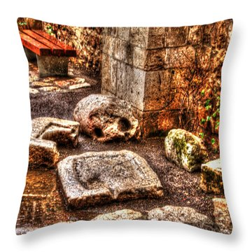 Throw Pillow featuring the photograph Stones That Don't Lie - Israel by Doc Braham