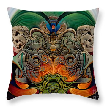 Xiuhcoatl The Fire Serpent Throw Pillow