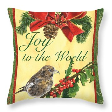 Xmas Around The World 2 Throw Pillow by Debbie DeWitt