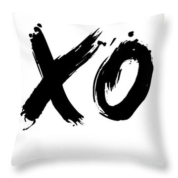 Xo Poster White Throw Pillow