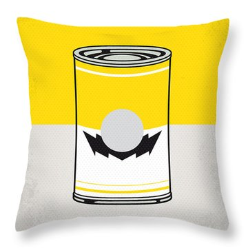 Y Mario Warhols Minimal Can Poster-wario Throw Pillow