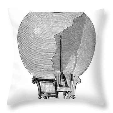 Yablochkov Candle Throw Pillow by Granger