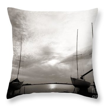 Cirrus Effect Throw Pillow by Amar Sheow