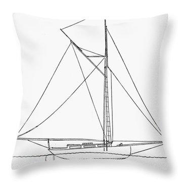 Yacht: Kelpie, 1882 Throw Pillow by Granger