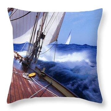 Yacht Race Throw Pillow