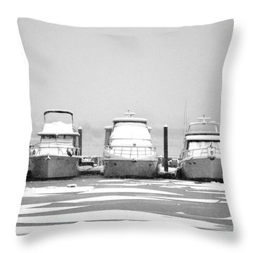 Yacht Row Throw Pillow