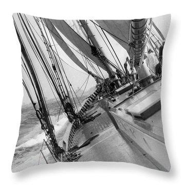 Yachting Season Opener Throw Pillow