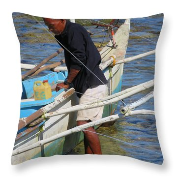 Yachtsman Throw Pillow