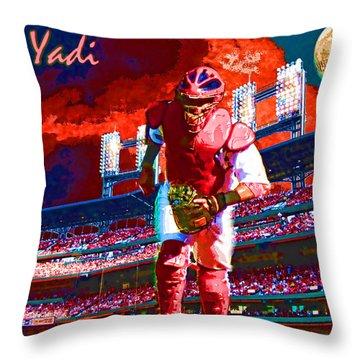 Yadi Throw Pillow by John Freidenberg
