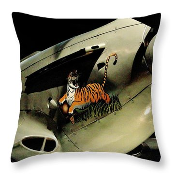 Yak 9 Tiger Throw Pillow by Benjamin Yeager