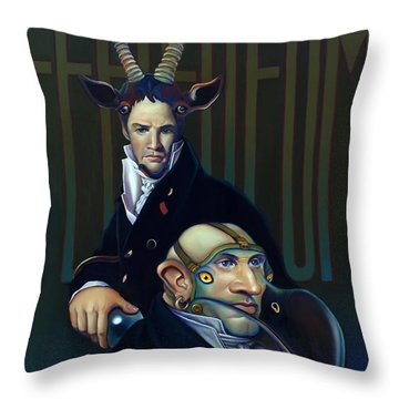 Yak Andrew Bienstjalk Throw Pillow by Patrick Anthony Pierson