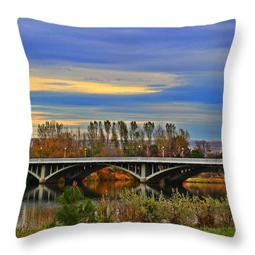 Yakima River Bridge Throw Pillow