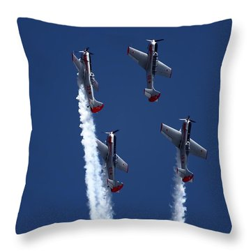 Yakovlevs Formation Flying Throw Pillow by Ramabhadran Thirupattur