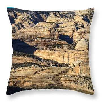 Yampa River Canyon In Dinosaur National Monument Throw Pillow