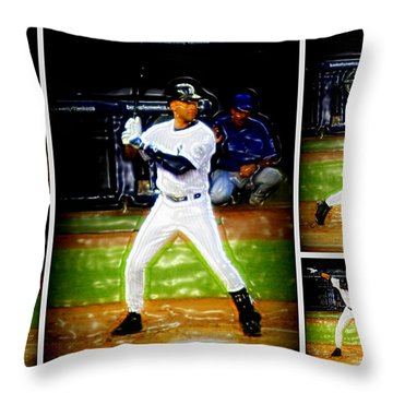 Yankee Captain Derek Jeter Throw Pillow
