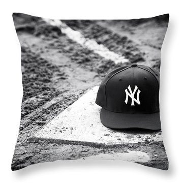 Yankee Home Throw Pillow by John Rizzuto