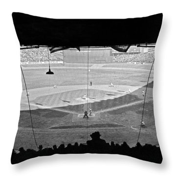 Yankee Stadium Grandstand View Throw Pillow by Underwood Archives