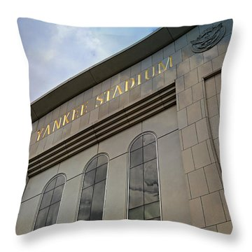 Yankee Stadium Throw Pillow by Stephen Stookey
