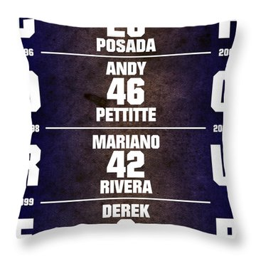 Yankees Core Four Chart Throw Pillow by Anibal Diaz