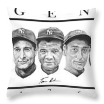 Babe Ruth Throw Pillows