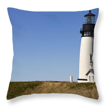 Yaquina Head Lighthouse 3 Throw Pillow by David Gn