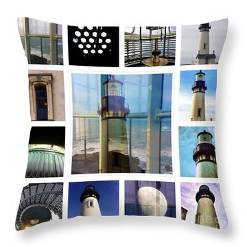Yaquina Head Lighthouse Essence  Throw Pillow