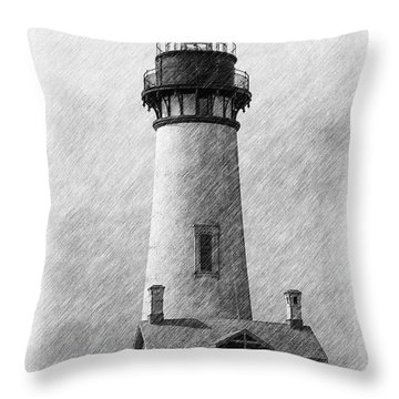 Yaquina Lighthouse Throw Pillow