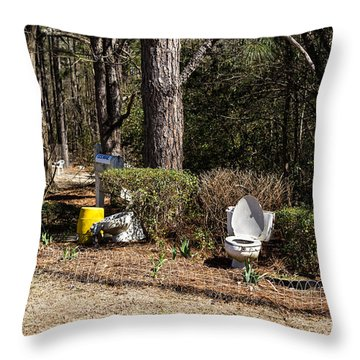 Yard Art Hwy 21 South Throw Pillow