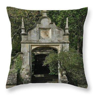 Yarnton Sundial Throw Pillow by Joseph Yarbrough