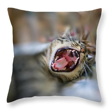 Yawn Throw Pillow
