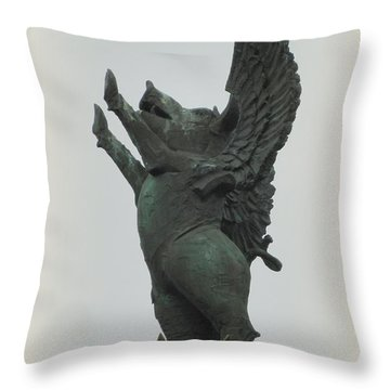 Yay Pigs Do Fly Throw Pillow