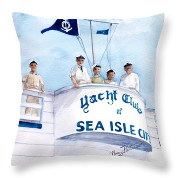 Ycsic Race Committee 2 Throw Pillow by Nancy Patterson
