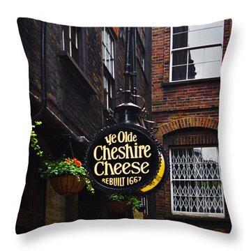 Ye Olde Pub Throw Pillow