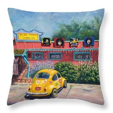 Ye Ole Hippie Emporium Throw Pillow by Patty Kay Hall