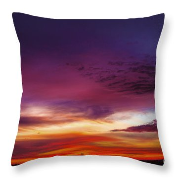 Year End Sunrise Throw Pillow