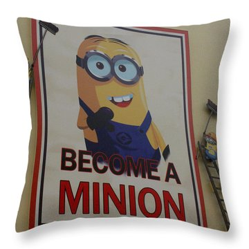 Year Of The Minions Throw Pillow
